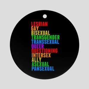 LGBTTQQIAAP Round Ornament