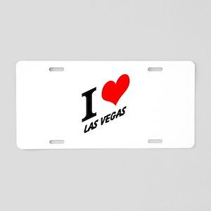I (heart) Las Vegas Aluminum License Plate