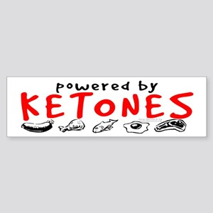 Powered By Ketones Sticker (Bumper)
