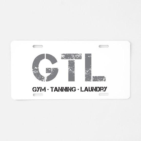Cute Tanning Aluminum License Plate