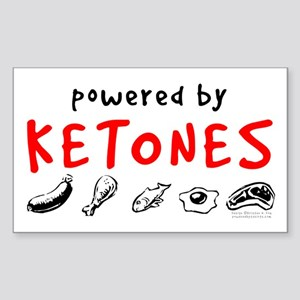 Powered By Ketones Sticker (Rectangle)