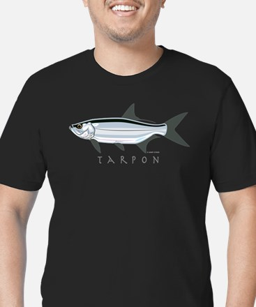 Tarpon Men's Fitted T-Shirt (dark)