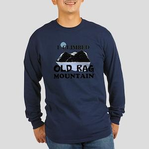 I Climbed Old Rag Mountain Long Sleeve Dark T-Shir