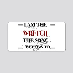 Wretch Aluminum License Plate