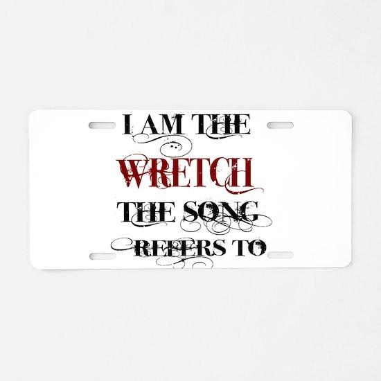 Wretch Aluminum License Plate