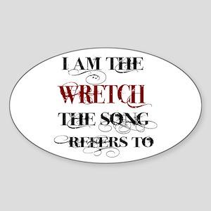 Wretch Sticker (Oval)