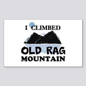 I Climbed Old Rag Mountain Sticker (Rectangle)