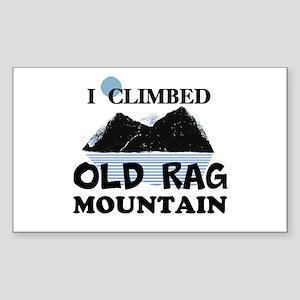 I Climbed Old Rag Mountain Sticker (Rectangle)