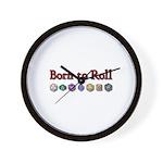 Born to Roll Wall Clock