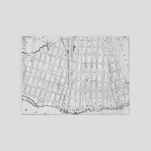 Vintage Map of Williamsburg Brookly 5'x7'Area Rug