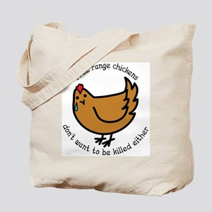 Free Range Chickens Vegan/Vegetarian Tote Bag