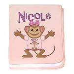 Little Monkey Nicole baby blanket