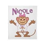 Little Monkey Nicole Throw Blanket