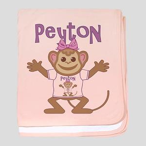 Little Monkey Peyton baby blanket
