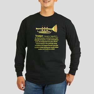 Trumpet Long Sleeve Dark T-Shirt