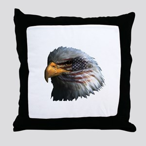 USA Eagle Throw Pillow