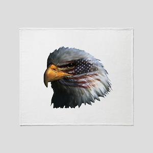 USA Eagle Throw Blanket