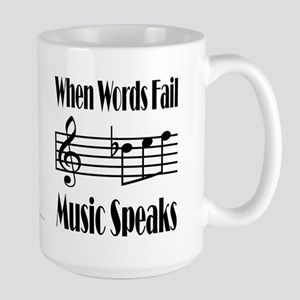 Music Speaks Large Mug