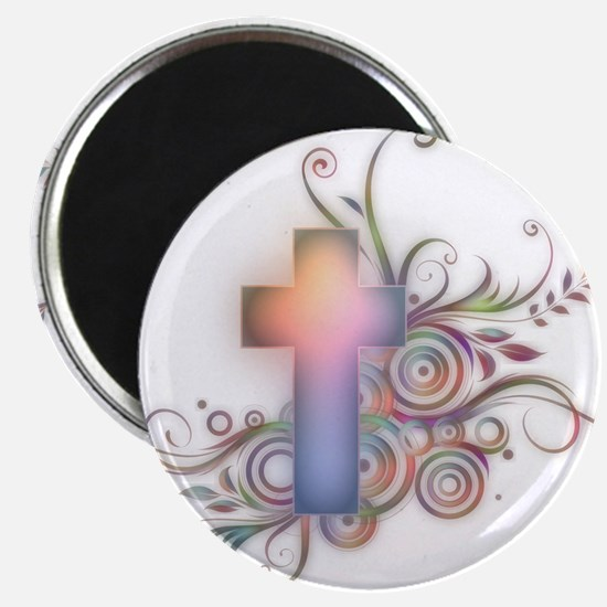Swirls N Cross Magnet