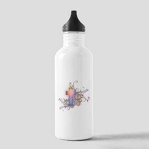 Swirls N Cross Stainless Water Bottle 1.0L