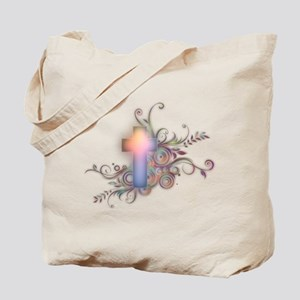 Swirls N Cross Tote Bag