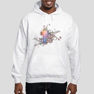 Swirls N Cross Hooded Sweatshirt