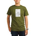 Mutant Claws? Organic Men's T-Shirt (dark)