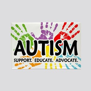 Autism:Handprint Rectangle Magnet
