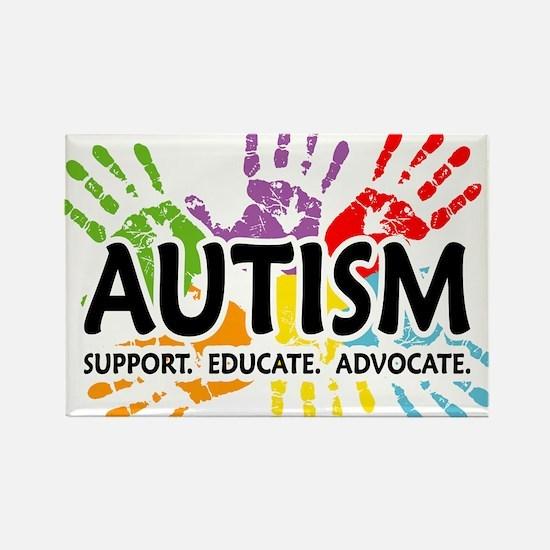Autism:Handprint Rectangle Magnet