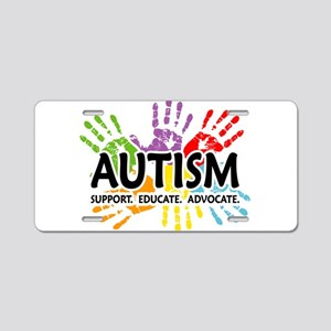 Autism:Handprint Aluminum License Plate