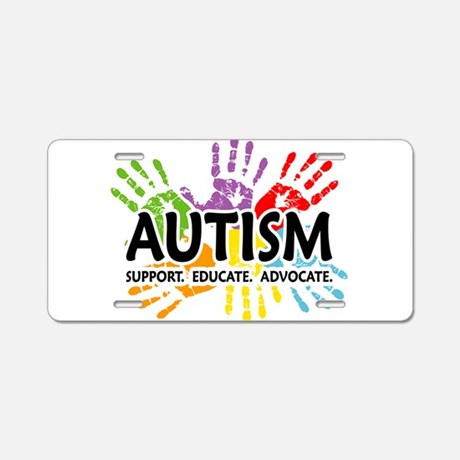 Autism Support Aluminum License Plate