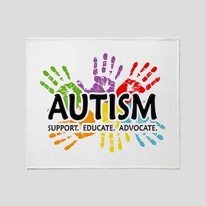 Autism:Handprint Throw Blanket