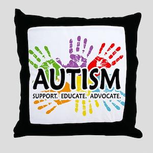 Autism:Handprint Throw Pillow