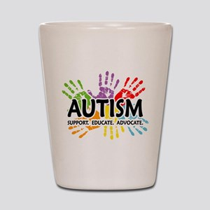 Autism:Handprint Shot Glass
