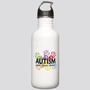 Autism:Handprint Stainless Water Bottle 1.0L