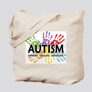Autism:Handprint Tote Bag