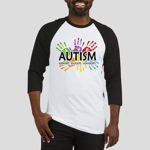 Autism:Handprint Baseball Jersey