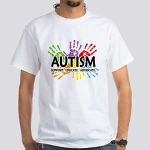 Autism:Handprint White T-Shirt