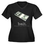 Bait Women's Plus Size V-Neck Dark T-Shirt