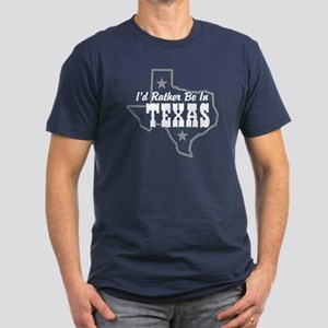 I'd Rather Be In Texas Men's Fitted T-Shirt (dark)