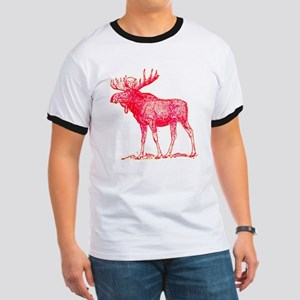 lexicon graphic pink moose Ringer T