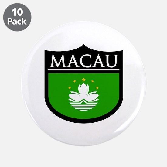 """Macau Patch 3.5"""" Button (10 pack)"""