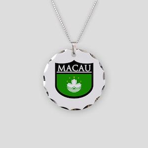 Macau Patch Necklace Circle Charm