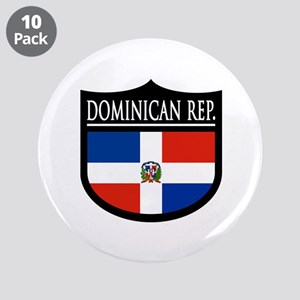 "Dominican Rep. - 3.5"" Button (10 pack)"