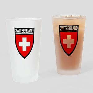 Switzerland Flag Patch Drinking Glass