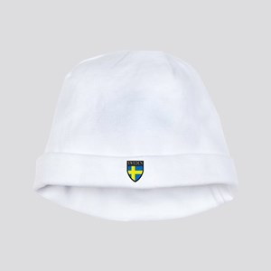 Sweden Patch baby hat