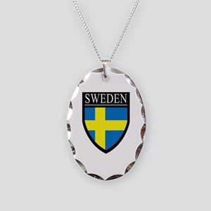 Sweden Patch Necklace Oval Charm