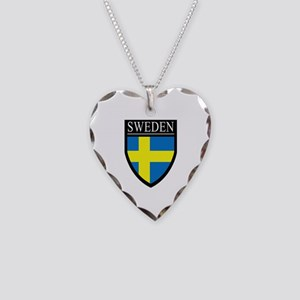 Sweden Patch Necklace Heart Charm