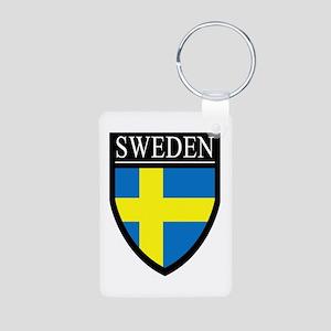Sweden Patch Aluminum Photo Keychain