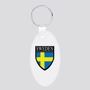 Sweden Patch Aluminum Oval Keychain